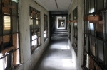 The long hallway runs the length of the entire medical complex.